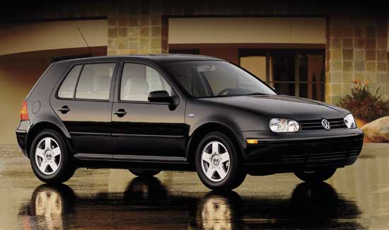 A Black 2002 VW Golf