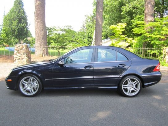 "In side profile the C55 AMG looks like every other W203 sedan, only the 18"" AMG wheels give away it's aggressive nature."