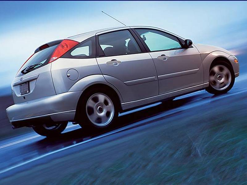 A Silver 2003 Ford Focus SVT Hatchback