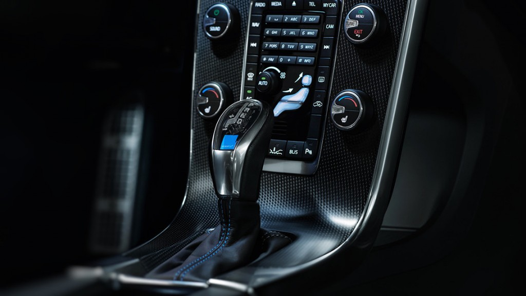 Automatic gear selector in the Volvo V60 Polestar