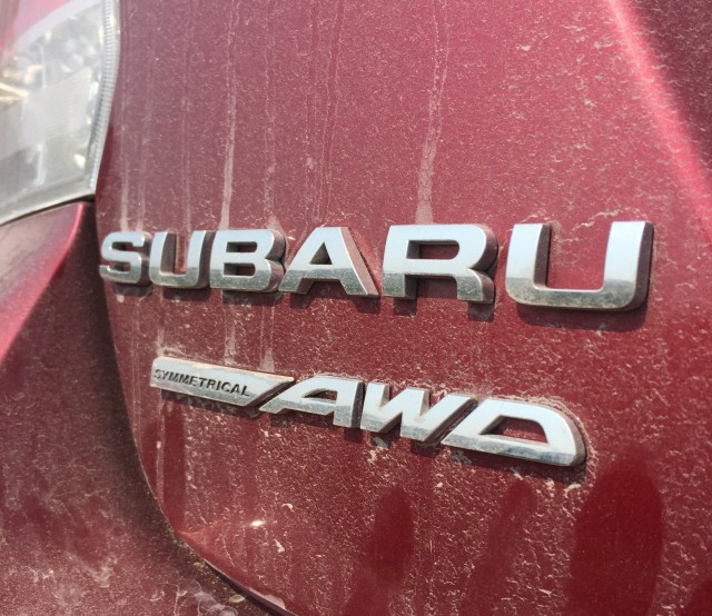 Subaru Impreza trunk badges